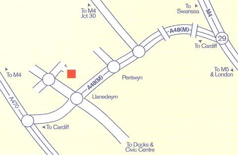 Plano de acceso de Hotel Park Inn Cardiff North