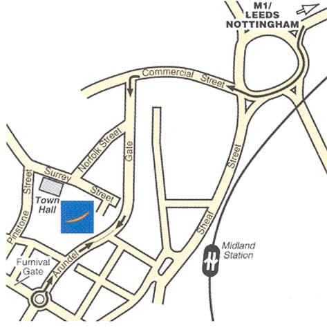 Plano de acceso de Hotel Novotel Sheffield