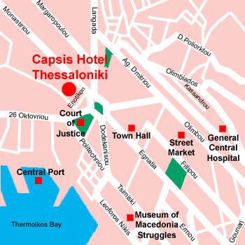 Plano de acceso de Hotel Capsis