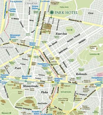 Plano de acceso de Hotel Radisson Blu Park (Superior)
