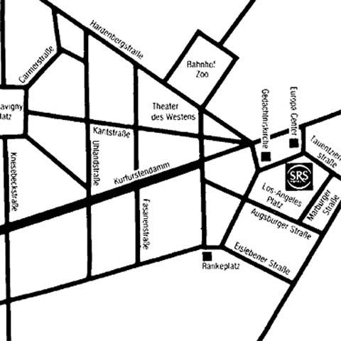 Plano de acceso de Hotel Steigenberger Berlin