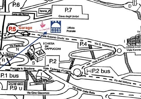 Plano de acceso de Grand Hotel San Marino