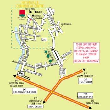 Plano de acceso de Hotel Ibis Centrum St-Baafs Kathedraal
