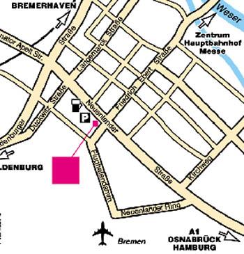 Plano de acceso de Hotel Mercure Hanseatic