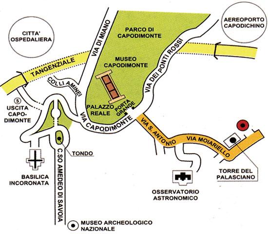 Plano de acceso de Hotel Villa Capodimonte
