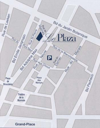 Plano de acceso de Hotel Le Plaza