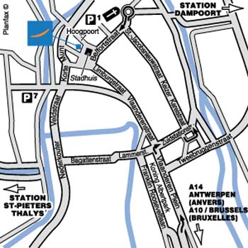 Plano de acceso de Hotel Novotel Gent Centrum