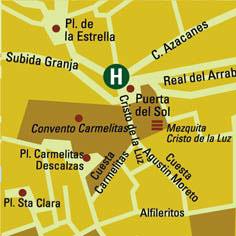 Plano de acceso de Hotel Abad Toledo
