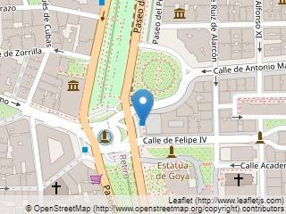Plano de acceso de Hotel Ritz Madrid