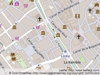 Plano de acceso de Hotel Ramblas Boqueria