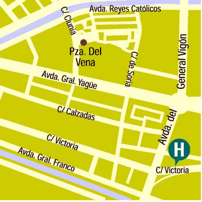 Plano de acceso de Hotel Puerta De Burgos