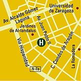 Plano de acceso de Hotel Reina Petronila