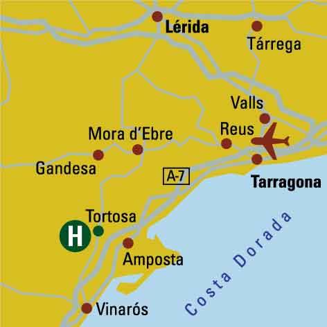 Plano de acceso de Hotel Berenguer Iv