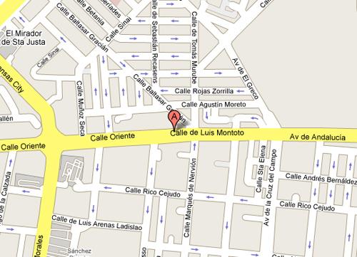 Plano de acceso de Hotel Medium Virgen De Los Reyes