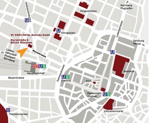 Plano de acceso de Vi Vadi Hotel