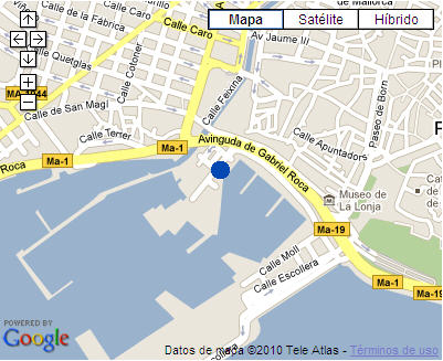 Plano de acceso de Hotel Costa Azul