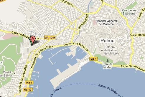 Plano de acceso de Isla Mallorca - Spa Hotel
