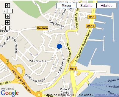 Plano de acceso de Catalonia Majorica Hotel