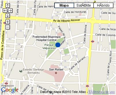 Plano de acceso de Hotel Nh La Habana