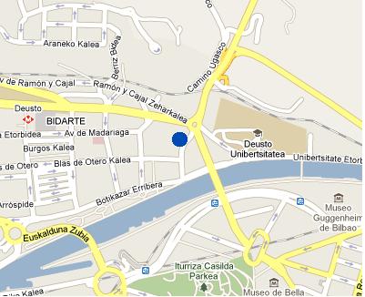 Plano de acceso de Hotel Nh Deusto