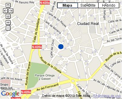 Plano de acceso de Hotel Nh Ciudad Real