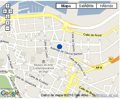 Plano de acceso de Hotel Nh Palacio De Vigo