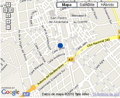 Plano de acceso de Hotel Nh San Pedro