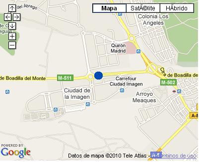 Plano de acceso de Hotel Nh Ciudad De La Imagen