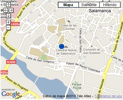 Plano de acceso de Hotel Nh Puerta De La Catedral
