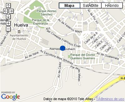 Plano de acceso de Hotel Nh Luz Huelva