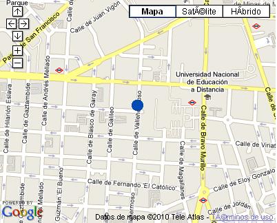 Plano de acceso de Hotel Nh Argüelles