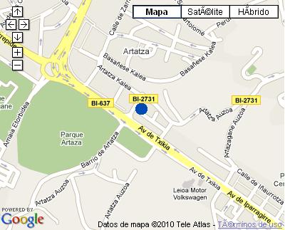Plano de acceso de Hotel Nh La Avanzada