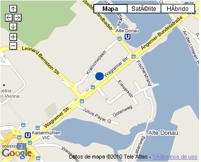 Plano de acceso de Hotel Nh Danube City
