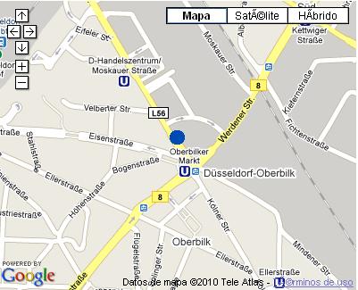 Plano de acceso de Hotel Nh Duesseldorf City