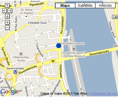 Plano de acceso de Hotel Nh Koeln City