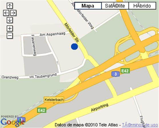 Plano de acceso de Hotel Nh Frankfurt Airport