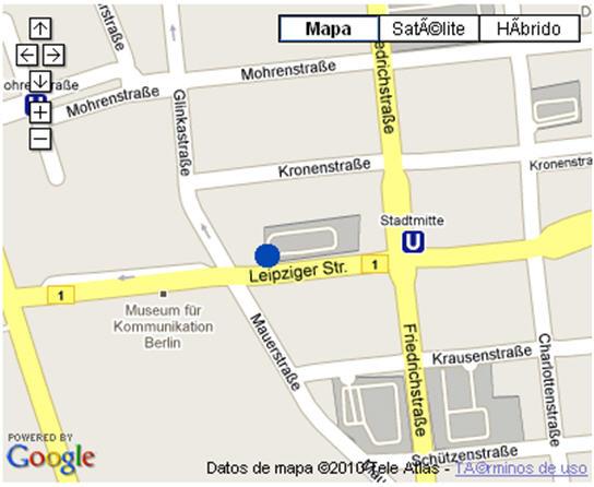 Plano de acceso de Hotel Nh Berlin Mitte