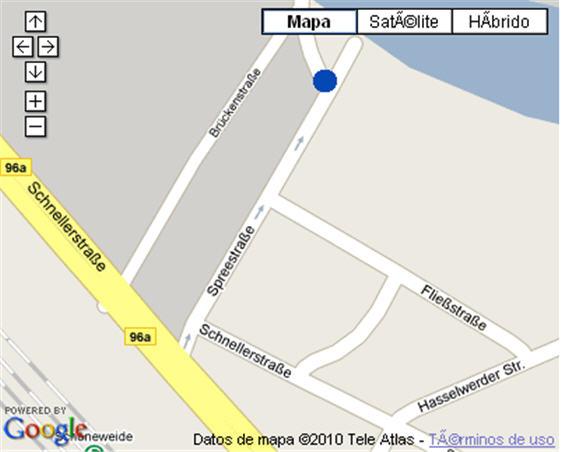 Plano de acceso de Hotel Nh Berlin Treptow