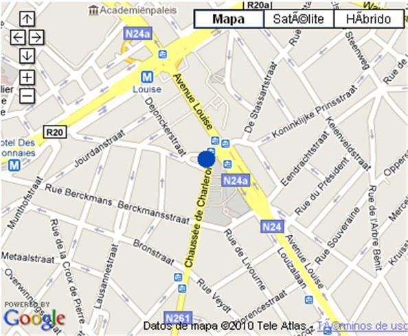 Plano de acceso de Hotel Nh Brussels City Centre