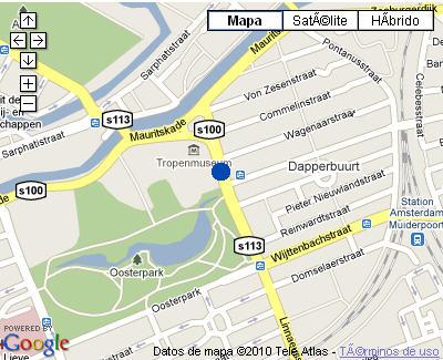 Plano de acceso de Hotel Nh Tropen