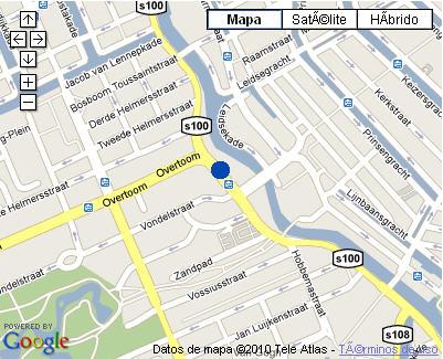 Plano de acceso de Hotel Nh Amsterdam Centre