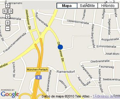 Plano de acceso de Hotel Nh Muenchen Am Ring
