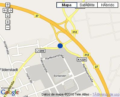 Plano de acceso de Hotel Nh Stuttgart Airport