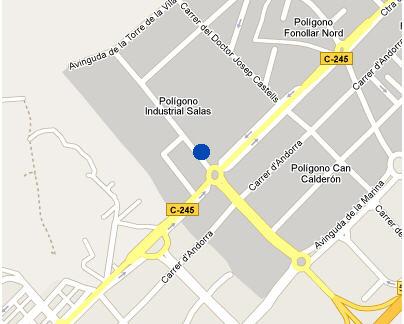 Plano de acceso de Hotel Nh Sant Boi