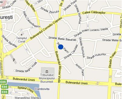 Plano de acceso de Hotel Nh Bucharest