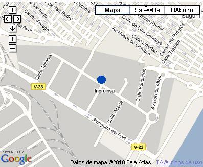 Plano de acceso de Hotel Nh Puerto De Sagunto