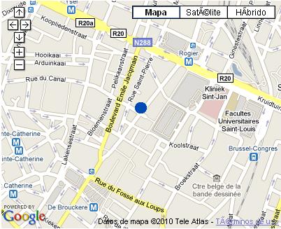 Plano de acceso de Hotel Nh Atlanta Brussels