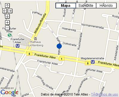 Plano de acceso de Hotel Nh Berlin Frankfurter Allee