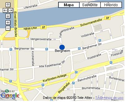Plano de acceso de Hotel Nh Heidelberg