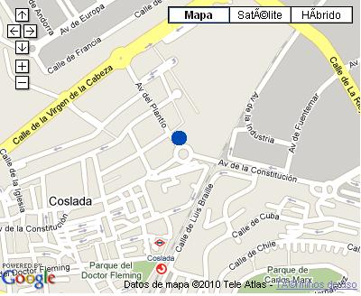 Plano de acceso de Hotel Nh Villa De Coslada